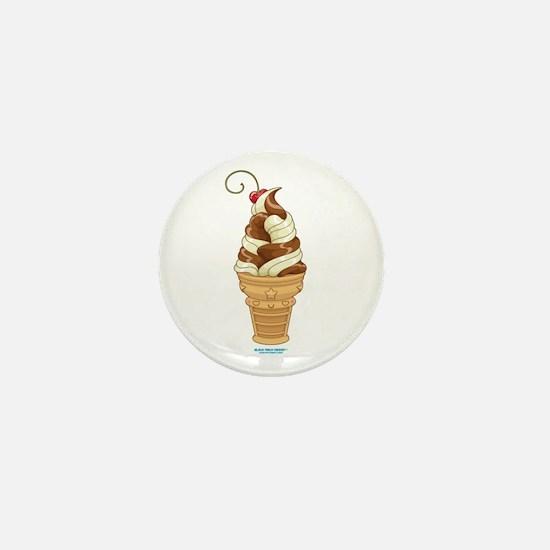 Chocolate & Vanilla Ice Cream Mini Button