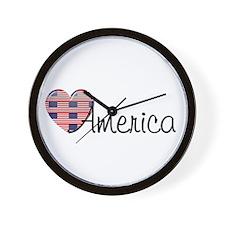 American Heart 2 Wall Clock