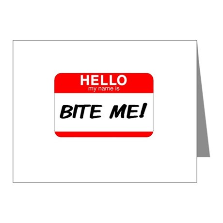 BITE ME Note Cards (Pk of 10)