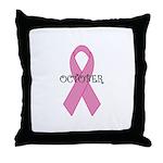 October - Breast Cancer Aware Throw Pillow
