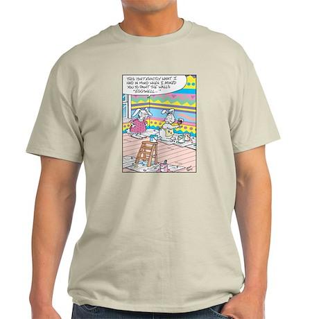 Easter Bunny Eggshell Painting Light T-Shirt
