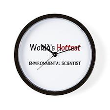 World's Hottest Environmental Scientist Wall Clock