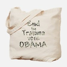 End The Trauma Vote Obama Tote Bag