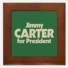 Carter for President Framed Tile