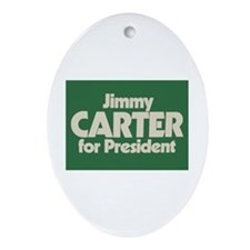 Carter for President Oval Ornament