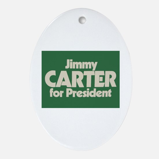 Carter for President Oval Ornament