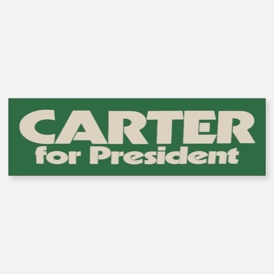 Carter for President Bumper Bumper Bumper Sticker