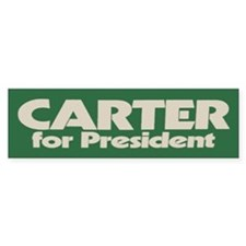Carter for President Bumper Car Sticker