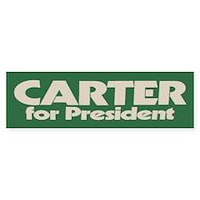 Carter for President Bumper Car Sticker