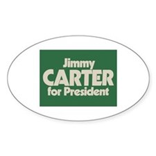 Carter for President Oval Decal