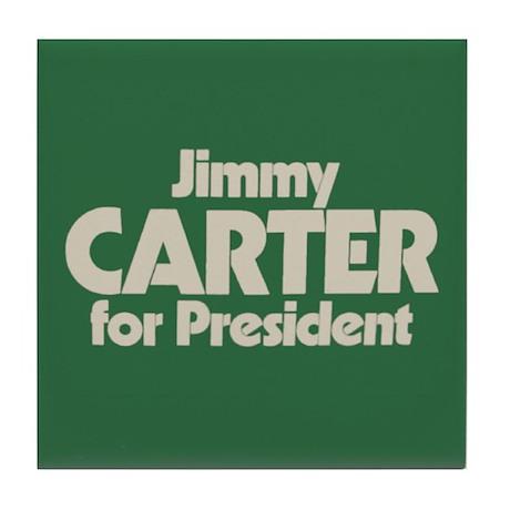 Carter for President Tile Coaster