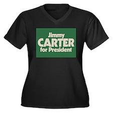 Carter for President Women's Plus Size V-Neck Dark