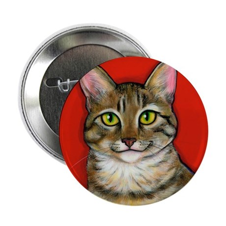 "Tabby Cat 2.25"" Button"