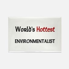 World's Hottest Environmentalist Rectangle Magnet