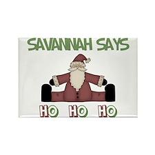 Savannah Says Ho Ho Ho Rectangle Magnet