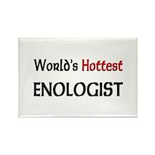 World's Hottest Enologist Rectangle Magnet
