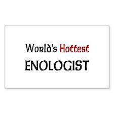 World's Hottest Enologist Rectangle Sticker