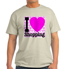 I Love Shopping Pink T-Shirt