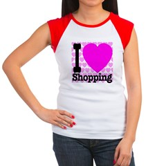 I Love Shopping Pink Women's Cap Sleeve T-Shirt