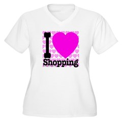 I Love Shopping Pink T-Shirt