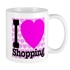 I Love Shopping Pink Mug