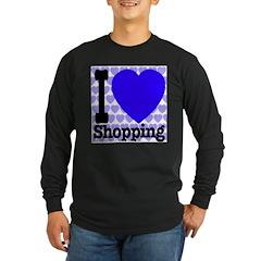I Love Shopping Blue T