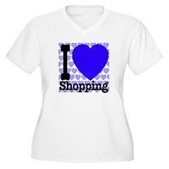 I Love Shopping Blue T-Shirt