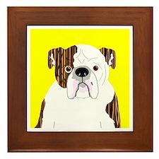 Bully (Brindle) Framed Tile