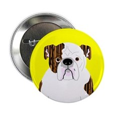 """Bully (Brindle) 2.25"""" Button"""