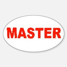 MASTER-RED LETTERS Oval Decal