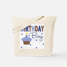 Birthday Boy Cupcake Tote Bag