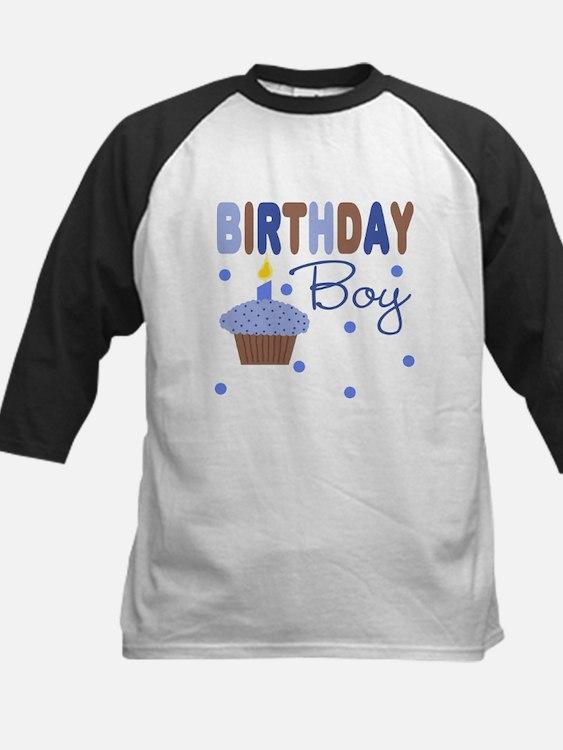 Birthday Boy Cupcake Kids Baseball Jersey