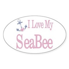i love my seabee Oval Decal
