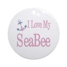 i love my seabee Ornament (Round)