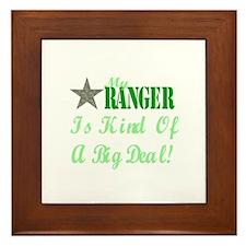 my ranger is kind Framed Tile