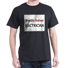 World's Hottest Electrician Dark T-Shirt