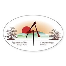 Asian Appalachian Trail Oval Decal