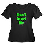 Don't Label Me Tran Women's Plus Size Scoop Neck D