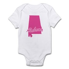 Pink Alabama Infant Bodysuit