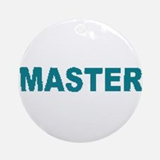 MASTER-TEAL LETTERS Ornament (Round)