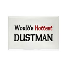 World's Hottest Dustman Rectangle Magnet