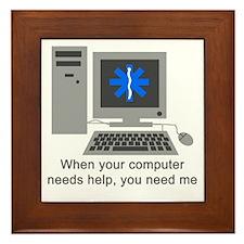 Computer Repair Framed Tile