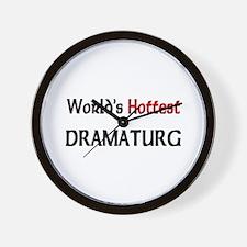 World's Hottest Dramaturg Wall Clock