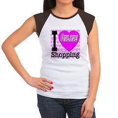 I Love Online Shopping Women's Cap Sleeve T-Shirt