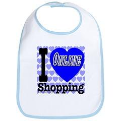 I Love Online Shopping Bib