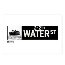 Water Street in NY Postcards (Package of 8)