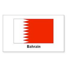 Bahrain Flag Rectangle Sticker 10 pk)