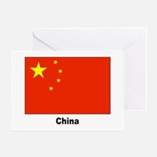 China Chinese Flag Greeting Card