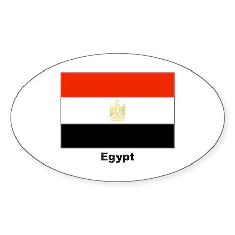 Egypt Egyptian Flag Oval Sticker (10 pk)