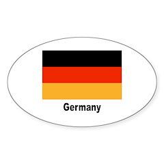 Germany German Flag Oval Sticker (10 pk)
